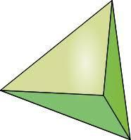 triangular pyramid/ tetrahedron