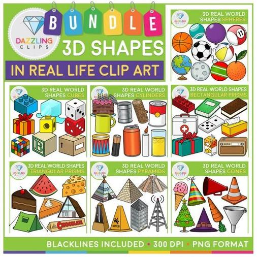 Real 3d shapes around us