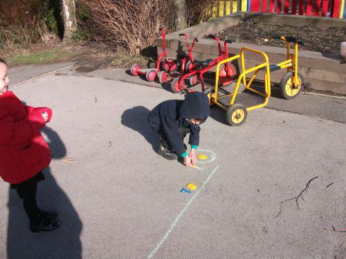 We put our numbers in order on a number line.