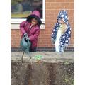 Planting lettuce seeds