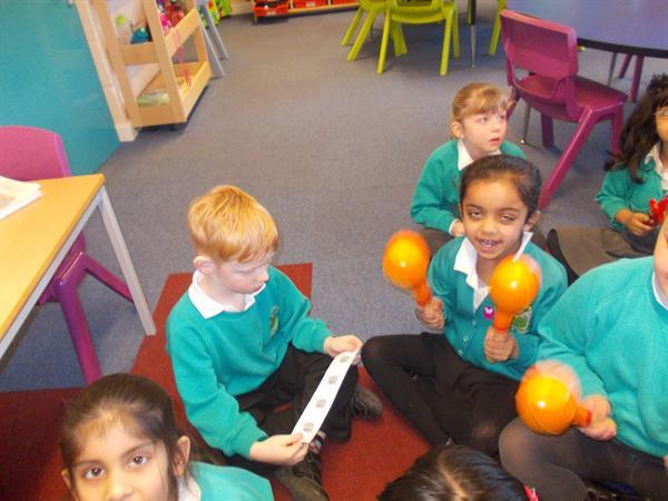 Following and playing rhythms.