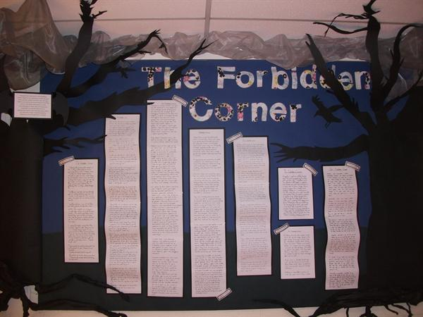 Y5 Display - The Forbidden Corner.