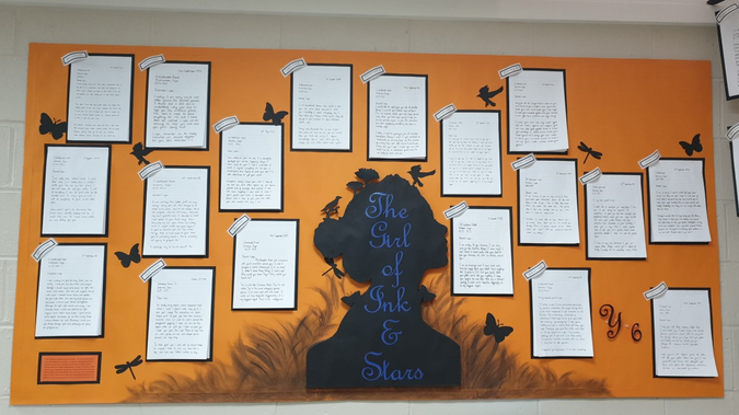 Y6 The Girl of Ink and Stars Display