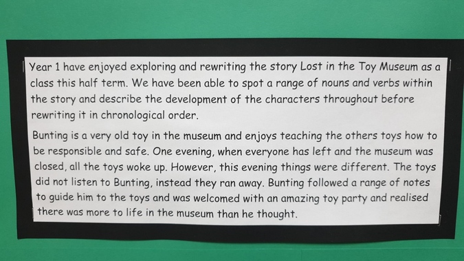 Year 1 Lost in the Museum blurb
