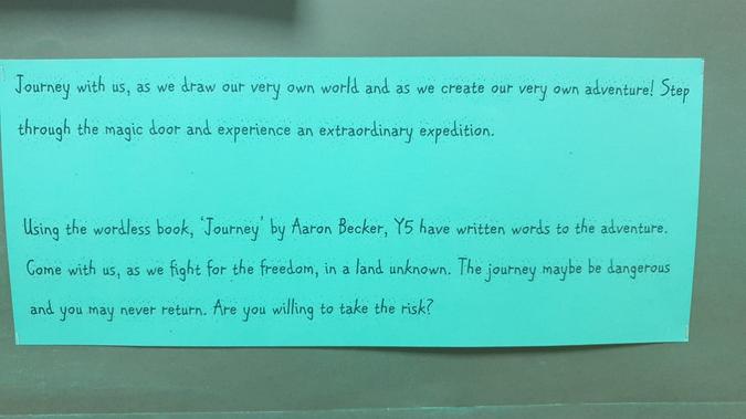 Year 5 The Journey Blurb