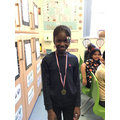 Year 4's Sports award goes to Fatomata this half term, for her great effort in gymnastics!