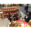 Creating musical instruments - autumn shakers!