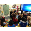 Mrs Bedford read to lions