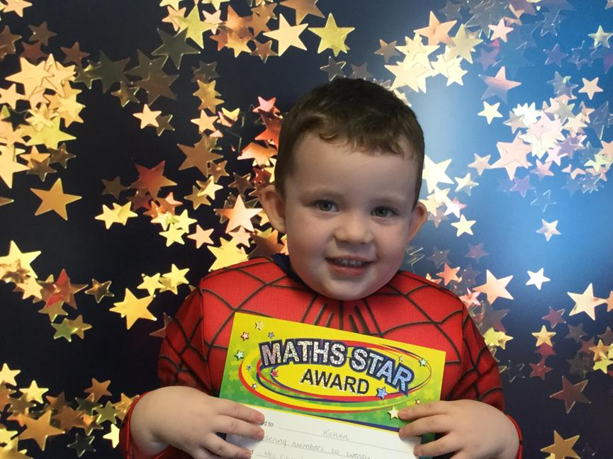 Our morning maths star; Kohen.