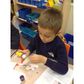 Making Gingerbread Man Puppets