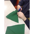 Step 2 - cutting out our felt shapes