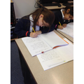 Working hard on our handwriting and presentation