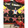 Aysha is Year 5's star reader for her excellent summarising in read and respond.