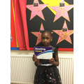 Year 3's star reader is Fatoumata for consistant enthusiasm towards reading.