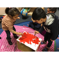 We painted and talked about the shapes we needed.