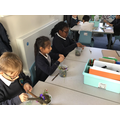 Making Stone Age 'paint' using natural resources.
