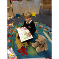 Sharing stories with our bear