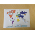 Labelling the continents