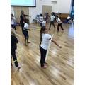 Using hoops in gymnastics