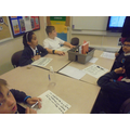 writing sentences for our tetractys poems.