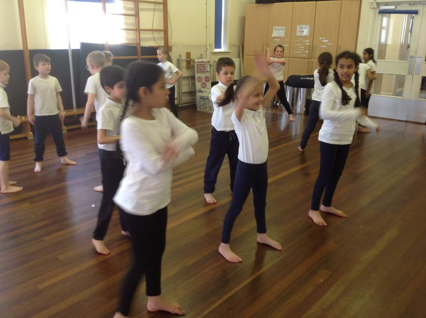 Learning some Bollywood style dance movements