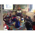 Mr Fraser read to Nursery
