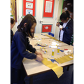 Making our Kings crowns for the Christmas play