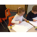 exploring autumn leaves and creating a word bank