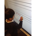 Writing on the interactive whiteboard