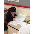 Creating our leaf shape poems