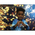 Morning Nursery's sports award goes to Mohamed.