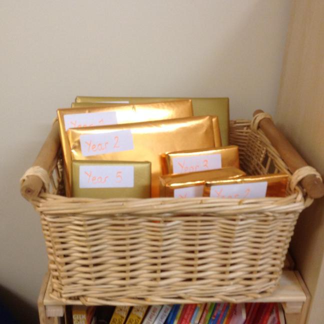 Our golden book basket