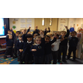 Singing a song about our journey to the moon!
