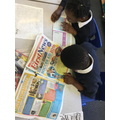 Identifying the features of a newspaper