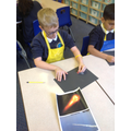 meteorite pictures using pastel and chalk