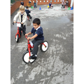 Learning to ride a two-wheeler bike!