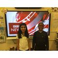 BBc news presenters for interviewing Gandhi
