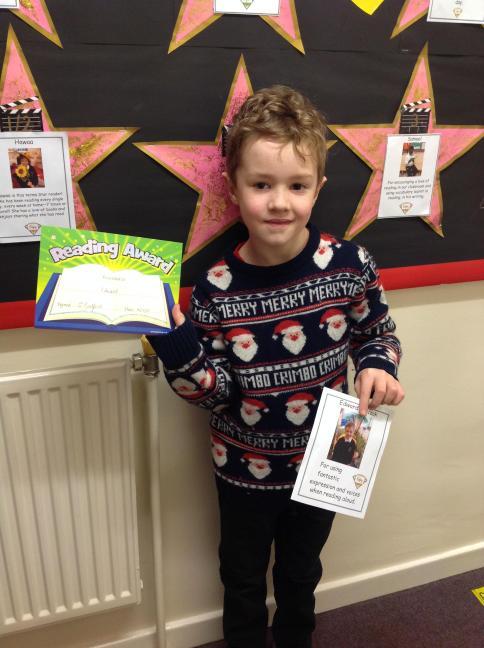 Edward was Y2's star reader for Autumn 2