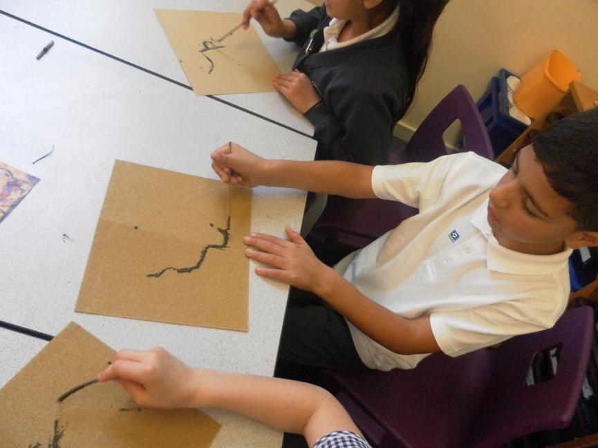 Creating Cave Paintings