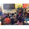 Miss Flood read to Y2