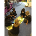 Using compass directions with the bee-bots