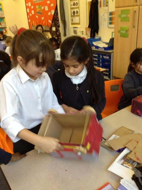 We added wheels to our box using our new knowledge