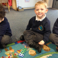 Number bonds using numicon