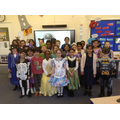 Y3's on Book character day