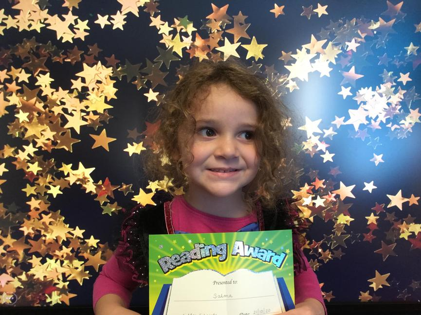 Our Morning reading star; Salma