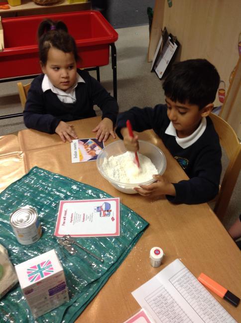 Making coconut barfi - Diwali sweets