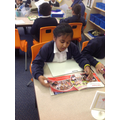 Laila using her retrievel reading gem