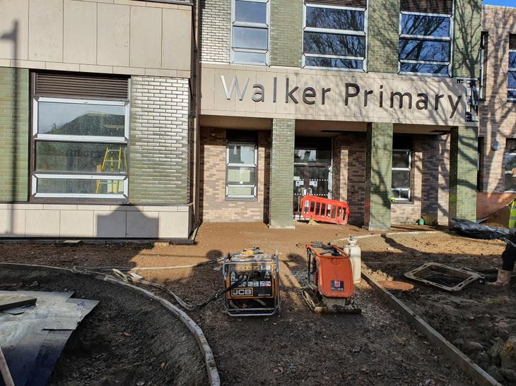 Walker Primary signage front of school.