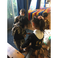 Dressing up our models.