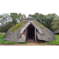 The Iron-age roundhouse home.